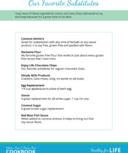 Healthy for Life! Gluten-free & Dairy-free Cookbook Page Two